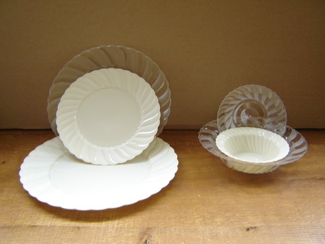 Round clear or color flower plate