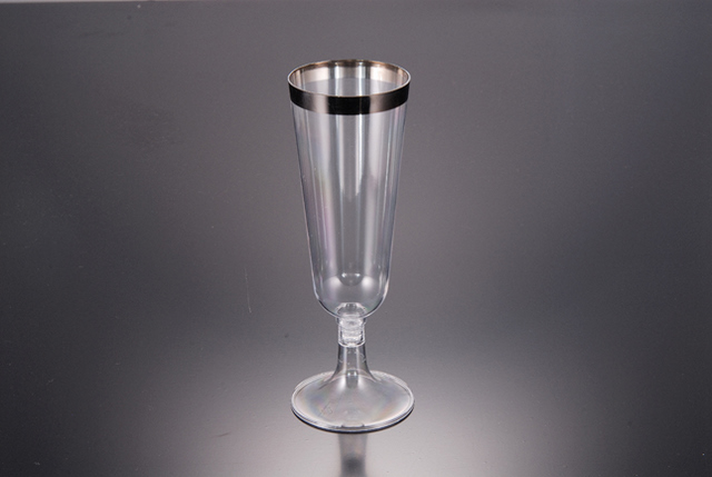 Champagne cup with silver rim