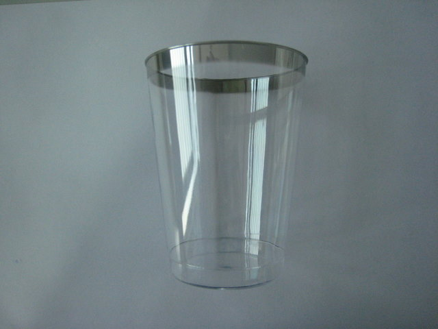 Drinking cup with silver rim