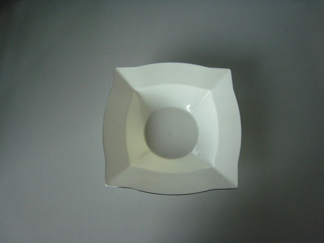 Cram square small bowl with silver rim